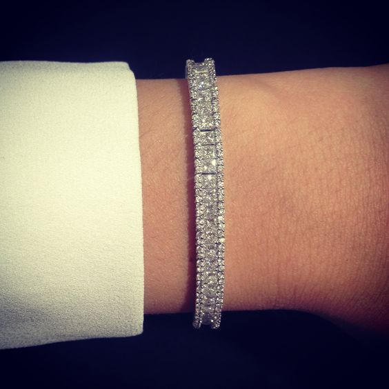 8.5 ct Diamond White Gold Tennis bracelet