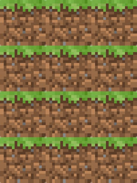 Minecraft Grass Block - 18 - fabric for Ben's pillowcases.