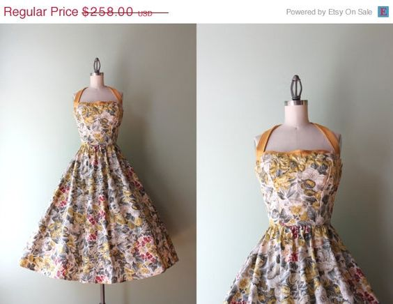 STOREWIDE SALE 50s Party Dress / Vintage 1950s by HolliePoint, $206.40