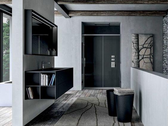 Móvel para casa de banho único suspenso de Fenix-NTM® SENSE 03 by IdeaGroup design Aqua