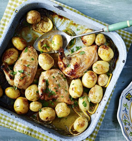 This tasty tray bake is super easy - all the flavour comes from the delectable honey and mustard marinade.