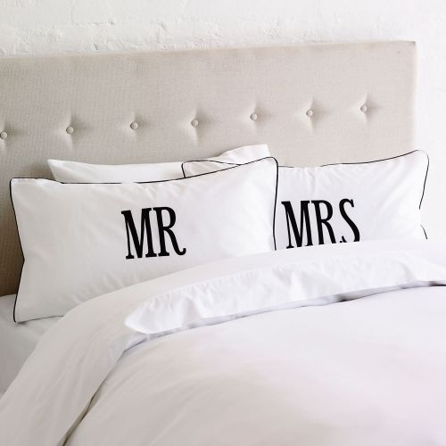 Cute Couple Pillow Covers : Pillowcases, Mr mrs and Quilt cover on Pinterest