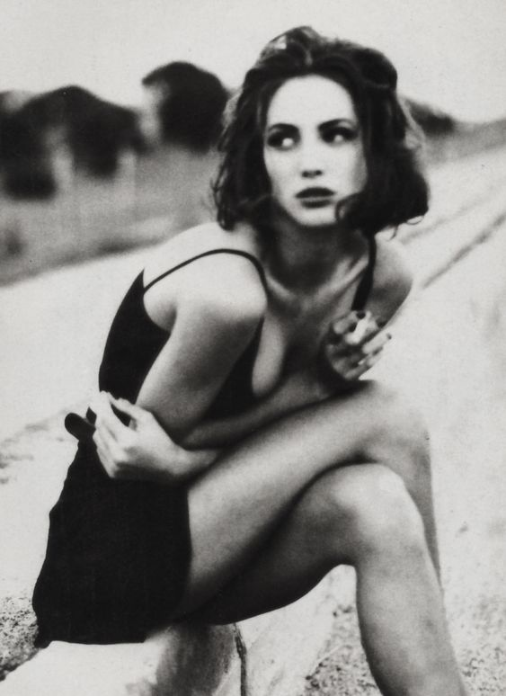 "christyturlingtonfan:  Vogue Italia January 1990""Belladonna""Photographer: Ellen von Unwerth"
