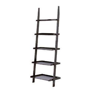 #6: Contemporary Black Finish 5-Tier Ladder Book Shelf.