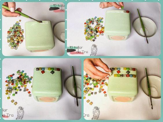 Dos ideas para decorar tus macetas reutilizando cds for Ideas para decorar macetas