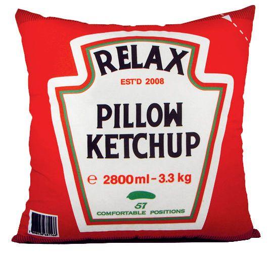 Almofada Relax Ketchup - Almofadas - Linux Mall - Loja nerd e geek com Camisetas geek, Livros, Acessórios, Toys, etc