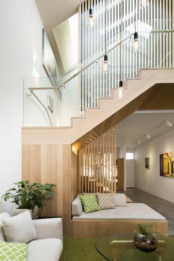 Design d 39 int rieur styl avec le tableau triptyque design for Idee rampe escalier