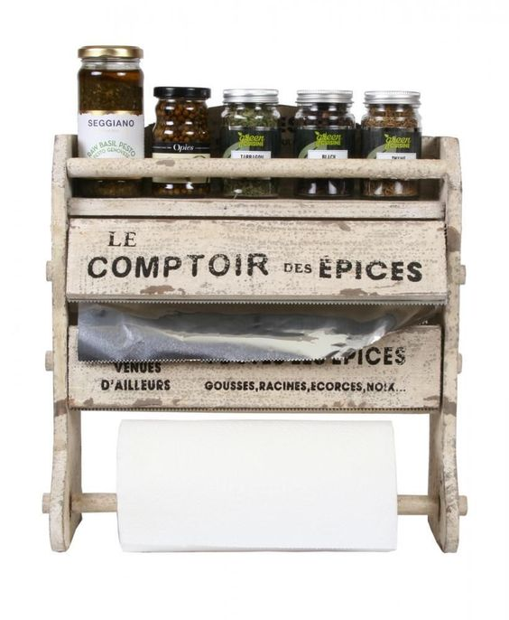 KITCHEN ROLL HOLDER Foil Clingfilm Dispenser French Vintage Style LE COMPTOIR in Home, Furniture & DIY, Cookware, Dining & Bar, Food & Kitchen Storage | eBay