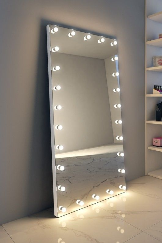 Anastasia Tall Grand Mirror Aluminum Frame Dressing Room Decor Mirror Bedroom Decor Dressing Room Mirror