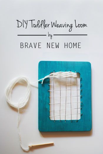 DIY Toddler Weaving Loom by Brave New Home - tutorial on how to make one
