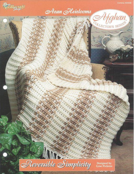 🏨 Reversível Simplicidade Crochê afegão Malha itens decorativos Criações -  /  🏨 Reversible Simplicity Crochet Afghan Knit Knacks Creations -