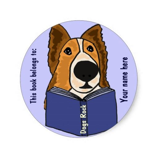 Sheltie Reading a Book Stickers #shelties #dogs #reading #stickers #funny And www.zazzle.com/naturesmiles*