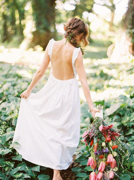 boho wedding dress #weddingdress #weddinggown #fashion: