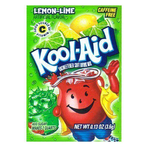 Kool Aid Drink Mix Lemon Lime 10 Count Kool Aid Flavors Kool Aid Lime Drinks