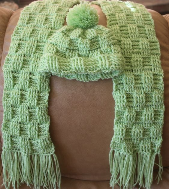 Basket Weave Hat Pattern Free : How to crochet a basket weave scarf explicativo e