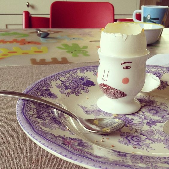 Donna Wilson Beardy Bob egg cup. Instagram photo by @emmaru (emmaru)