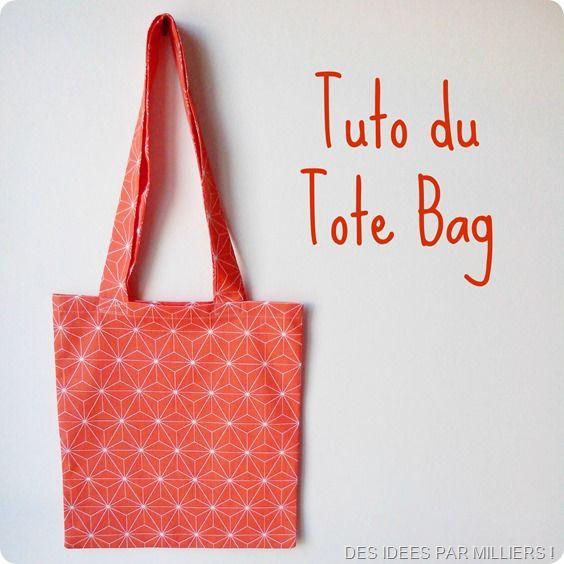 tuto du tote bag couture pinterest sacs tote bags et sacs tote bags. Black Bedroom Furniture Sets. Home Design Ideas