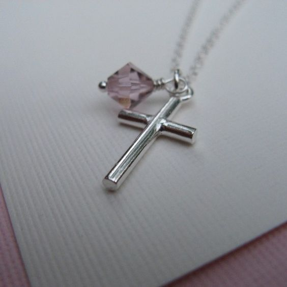 Child's Cross Necklace by wildestiris on Etsy, $25.00