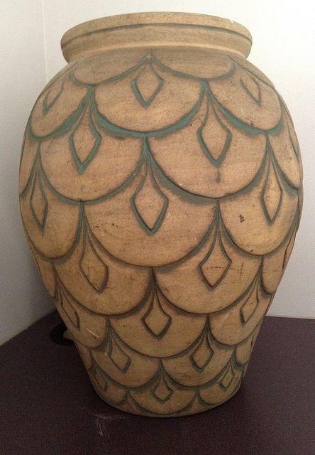 large peacock ceramic vase by BabyBearHugs, via Flickr