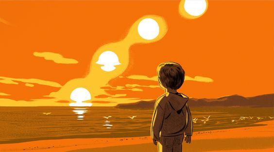 El amanecer es una ilusión óptica. La posición del Sol es un efecto provocado por los rayos, que sufren un proceso de refracción y su dirección se curva.