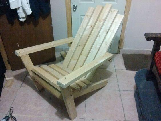 Practica comoda sencilla silla de madera para usarla en - Sillas madera jardin ...