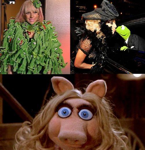 sinto que os dias de Lady Gaga estão contados!!!! Não brinque com ela!!!!!! Miss Piggy goes crazy!!!!