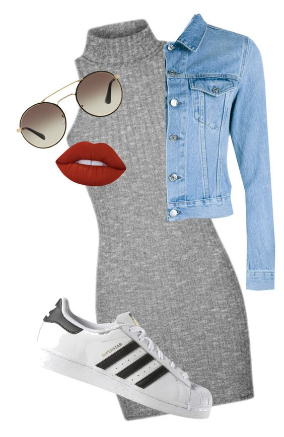 """""""Untitled #190"""" by ellieinawellie ❤ liked on Polyvore featuring Acne Studios, Prada, Lime Crime and adidas"""