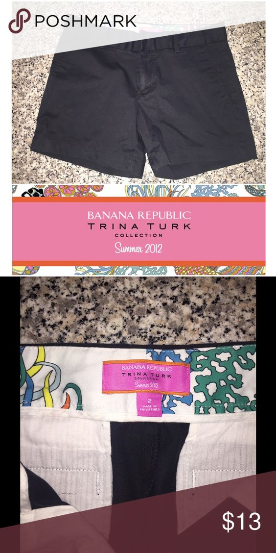 Summer Sale🍍 Trina Turk 4 Banana Republic Shorts Black Shorts that are the perfect length! Reducing the price for my summer sale! Barely worn! Banana Republic Shorts Skorts