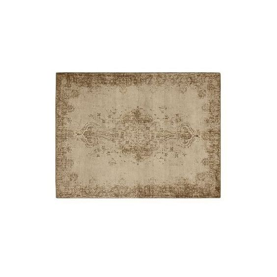 Pottery Barn Fallon Persian-Style Tufted Wool Rug, 2.5 x 9', Neutral ($549) ❤ liked on Polyvore featuring home, rugs, neutral, persian rug, pottery barn area rugs, persian style rugs, hand knotted wool rugs and hand knotted persian rug