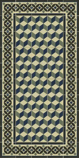 Pavimento hidraulico de gres pasta roja - 1900 20X20 | VIVES Azulejos y Gres