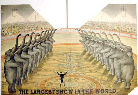 vintage circus - Google Search  audience in circle--but no barrier, yo.