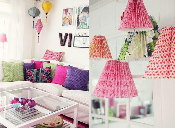 Cozy corner & Rie Elise Larsen lampshades