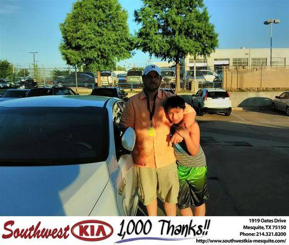 https://flic.kr/p/JyYpZz | Congratulations  on your #Kia #Optima Hybrid from Kaleb Cloyd at Southwest Kia Mesquite! #NewCar | www.deliverymaxx.com/DealerReviews.aspx?DealerCode=VNDX