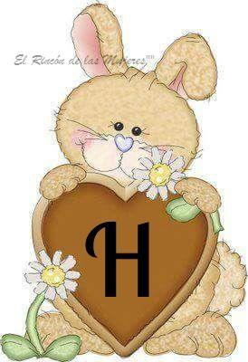 Conejo con letra H (para hombres)