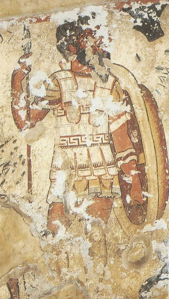 Hoplita etrusco (Afresco de Tarquinia)