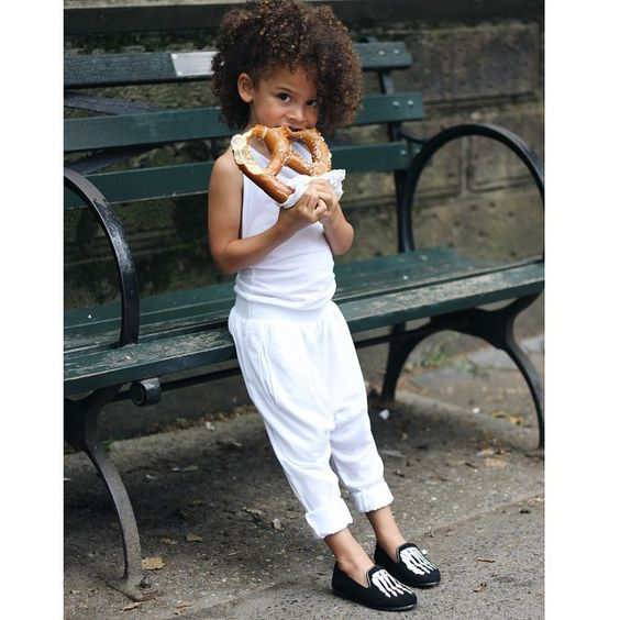 Chic city life in @yporquekids jumpsuit and  @akidbrand flats.  I love this photo Snapchat with us: scoutthecity