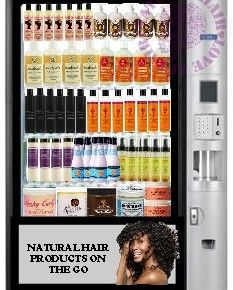 First natural hair vending machine, awesome!