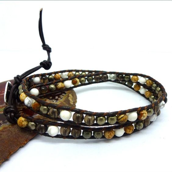 Fine Weaving Double Wrap Leather Brazilian Jewelry Bracelets Adjusted Size for gift