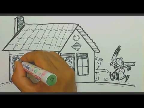 Cara Menggambar Dan Mewarnai Pemandangan Air Terjun Dan Rumah Dengan Gradasi Warna Oil Pastel Youtube Cara Menggambar Seni Pensil Warna Pemandangan