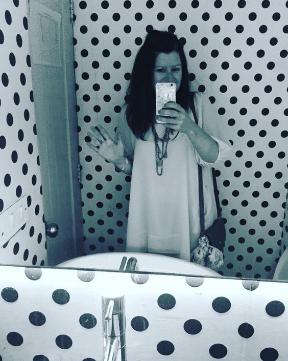 By http://www.instagram.com/miss_magpie_spy / And the best toilet of the year award goes to drumroll...........this one in Delhi (with Sketch a close second!). I just love the polka dots....  #spots #dots #selfie