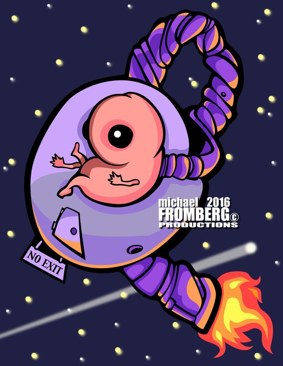 The future of space travel! #Space_Travel #Space_Ship #Illustration #Michael_Fromberg #Fromberg
