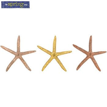 Metallic Resin Starfish Trio