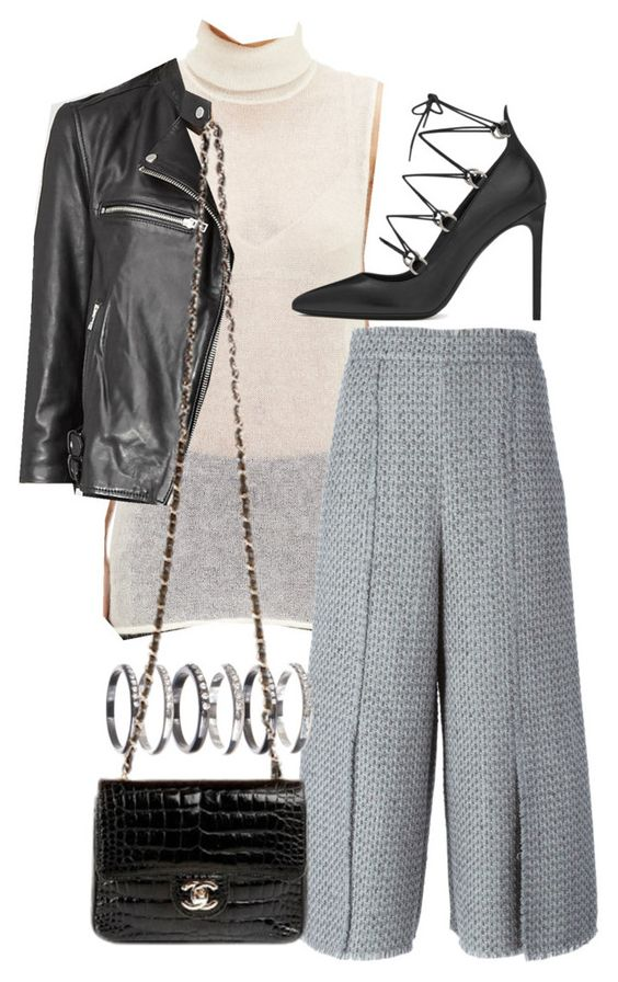 """""""Sin título #1953"""" by marianam97 ❤ liked on Polyvore featuring moda, Helmut Lang, AllSaints, Proenza Schouler, M.N.G, Yves Saint Laurent y Chanel"""