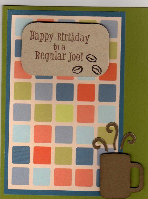 Coffee guy birthday card