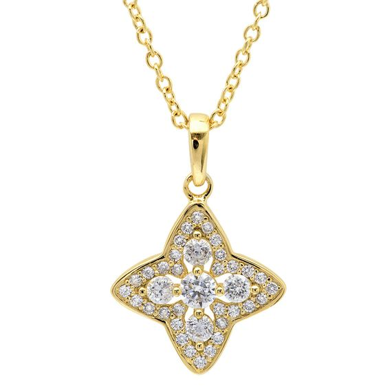 CRISLU Halo Star Necklace