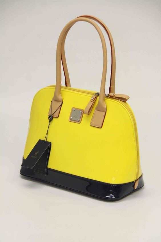 Ralph Lauren Polo Chic Canvas Handbag Red
