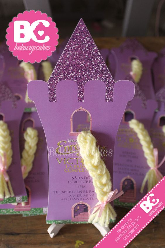 Invitation Rapunzel Party Tangled themed www.facebook.com/Bekacupcakes