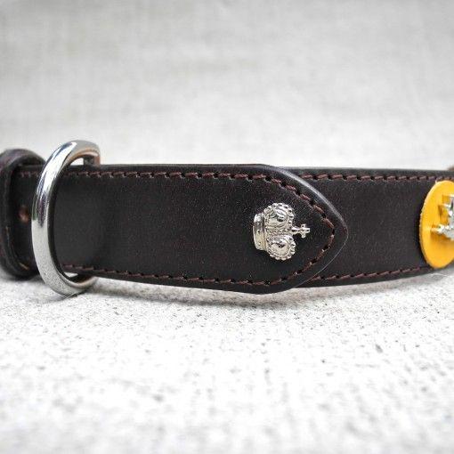 The Fieldmaster English Bridle Leather dog collar | HOUNDWORTHY