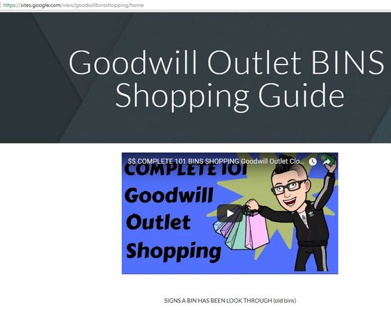 COMPLETE 101 BINS SHOPPING Goodwill Outlet Clothing Guide