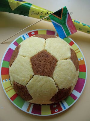 Les Recettes de Fidji: Gâteau Ballon de Football